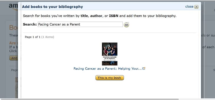 Adding books to your Amazon Author Page